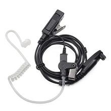 Gözetim kulaklık PTT Mic kulaklık Motorola radyo için GP328plus GP338plus GP344 GP388 GP688 EX500 EX600 Walkie Talkie