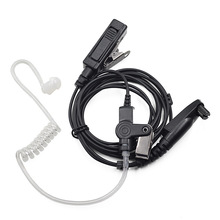 Surveillance Earpiece PTT Mic Headset for Motorola Radio GP328plus GP338plus GP344 GP388 GP688 EX500 EX600 Walkie Talkie