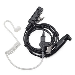 Image 1 - Surveillance Earpiece PTT Mic Headset for Motorola Radio GP328plus GP338plus GP344 GP388 GP688 EX500 EX600 Walkie Talkie