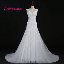 LEIYINXIANG 2019 Mermaid Wedding Dress Backless Sleeveless