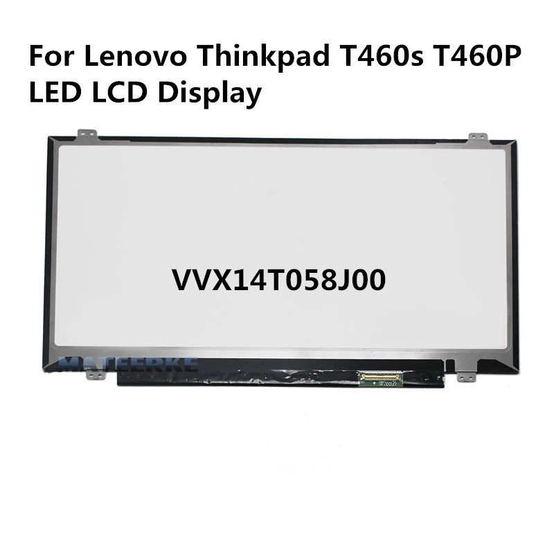 14 WQHD LED Screen LCD Display VVX14T058J02 VVX14T058J00 for Lenovo Thinkpad T460s T460P for lenovo thinkpad t460s t460p computer lcd led screen upgrade 3k lcd monitor vvx14t058j00 2560 1440 upgradable 3k screen