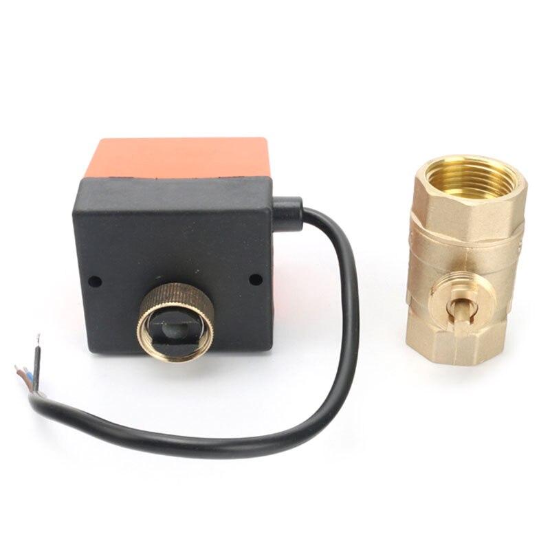 Specification : DN15, Voltage : DC12V, Wiring Control : CN02 AC220V DC5V DC12V DC24V Electric brass ball valve 2 way valve motorized valve for water DN15 DN20 DN25 DN32 DN40 Inlet
