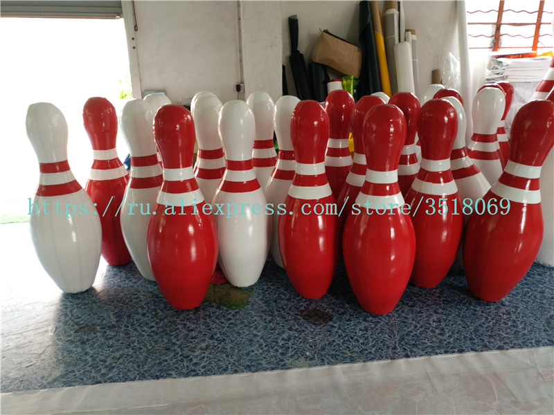 Vendita 1.5 m di altezza, rosso e bianco gonfiabile palle da bowling, di grandi dimensioni IN PVC gonfiabile palle da bowling per outdoor sci impatto giochiVendita 1.5 m di altezza, rosso e bianco gonfiabile palle da bowling, di grandi dimensioni IN PVC gonfiabile palle da bowling per outdoor sci impatto giochi