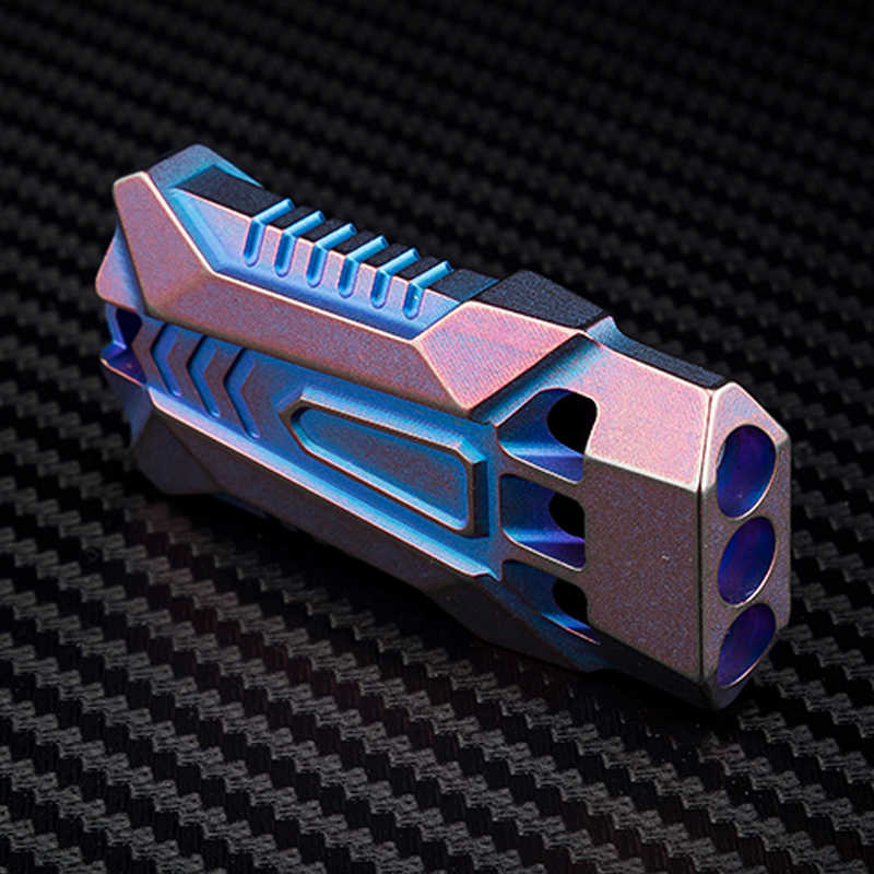 Открытый Отдых три трубки TC4 titanium сплав спасательный свисток высокочастотный sonic boom свисток Ограниченная серия для повседневного использования