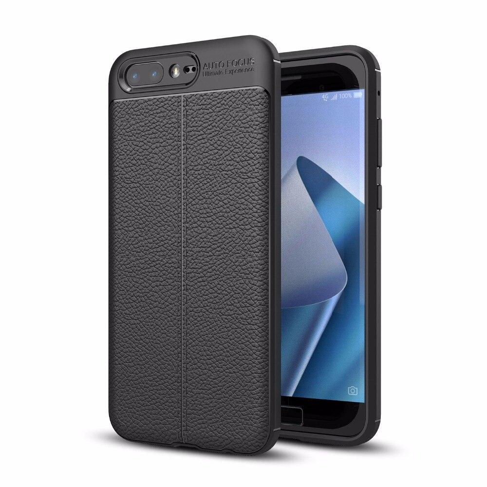 Для ASUS Zenfone 4 ZE554KL/4 Pro ZS551KL ультра тонкий искусственная кожа чехол Гибкая ТПУ Резиновая силиконовый защитный случаи Обложка