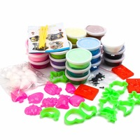 Kids 24 Colorful Fluffy Slime Polymer Light Air Dry Modeling Clay Tools Set Hand Putty Silly