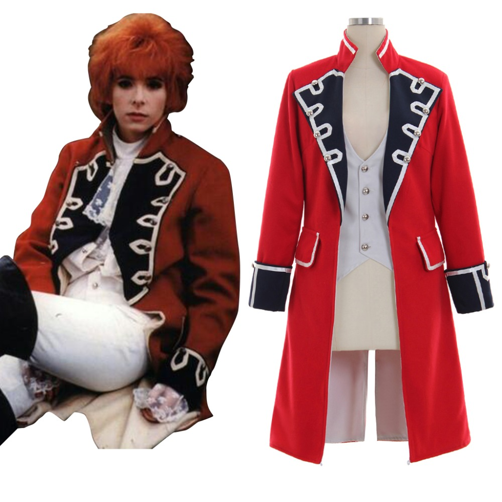 Cosplaydiy Medieval Style Uniform Costume Jacket Outlander Jonathan Randall Red Black Jacket Cosplay for Carnival Party