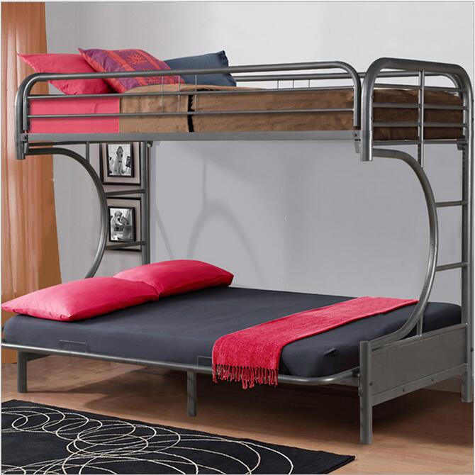 Bunk Bed For Kids Double Steel Black Bed Children Household Steel Bunk Bed Bedroom Sets Furniture