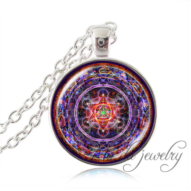 Aliexpress buy drop shipping silver chain om necklace drop shipping silver chain om necklace spiritual art pendant glass dome merkaba yoga jewelry sacred geometry mozeypictures Gallery