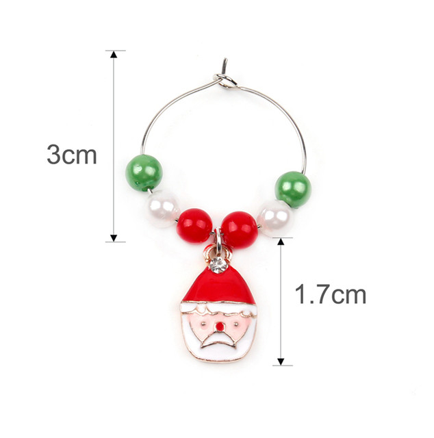 Merry Christmas Decor For Home 2019 Christmas Bottle Cover Wine Glass Charm Christmas Gift Decor Noel 2019 New Year Gift 2020 31