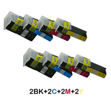8x Compatible Ink Cartridge For Lexmark 100 100XL 108XL S305 S405 S505 S605 Pro205 Pro705 Pro805 Pro905 708 Printer