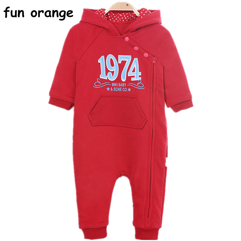 Fun Orange Infant Romper Baby Boys Girls Jumpsuit Newborn Baby Clothing Hooded Toddler Baby Clothes Romper Baby Costumes newborn infant baby romper cute rabbit new born jumpsuit clothing girl boy baby bear clothes toddler romper costumes