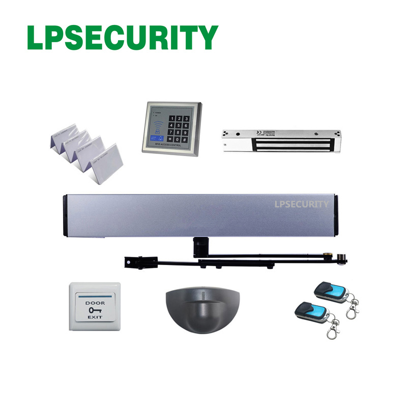 LPSECURITY Automatic Swing Door Opener Closer With Infrared Motion Sensor 2 Remote Controllers