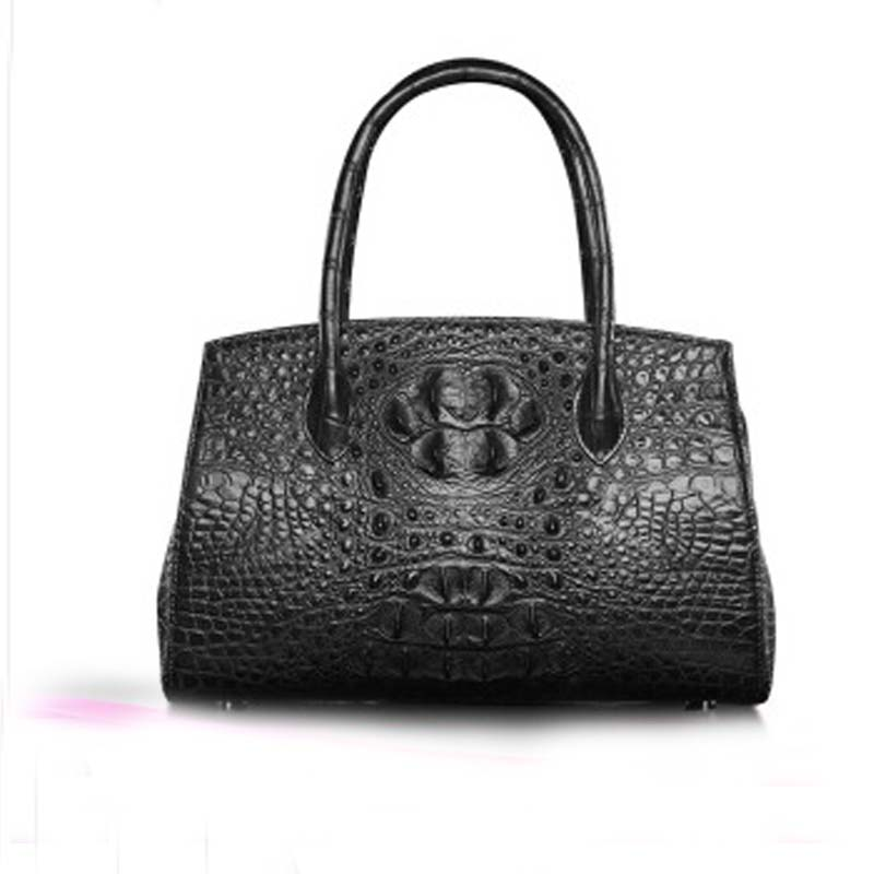 Shidifenni women handbag crocodile leather lady Europe fashion Pure color single shoulder