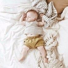 Новые хлопковые шорты для маленьких мальчиков и девочек детские штанишки для малышей летние трусики для детей от 0 до 6 месяцев