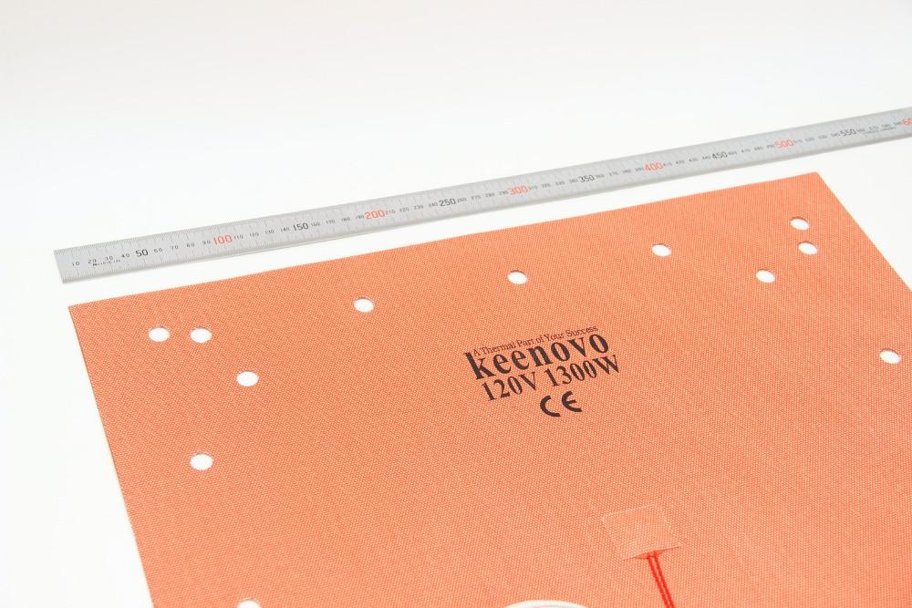 "Keenovo 실리콘 히터 패드 creality 용 508x508mm (20 ""x 20"") CR 10 s5 3d 프린터 베드 (나사 구멍 포함), 접착 백킹 및 센서-에서전기식 보온패드부터 홈 & 가든 의  그룹 3"