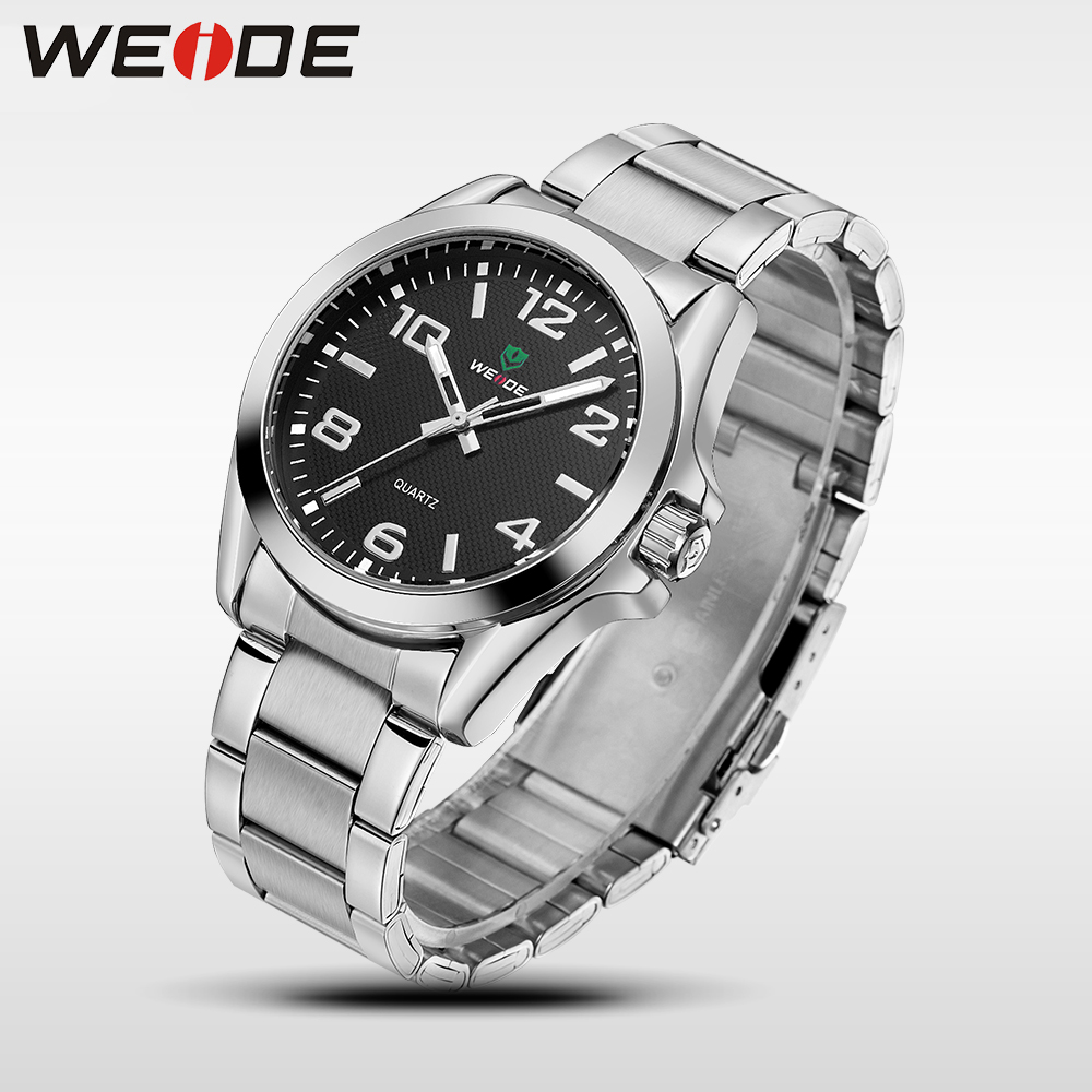 WEIDE Business Quartz Sport Wrist Watch Casual Genuine Automatic Watches Top Brand Luxury Men Analog Watch Stainless Steel Clock mike 8825 men s business casual analog quartz wrist watch silvery white black