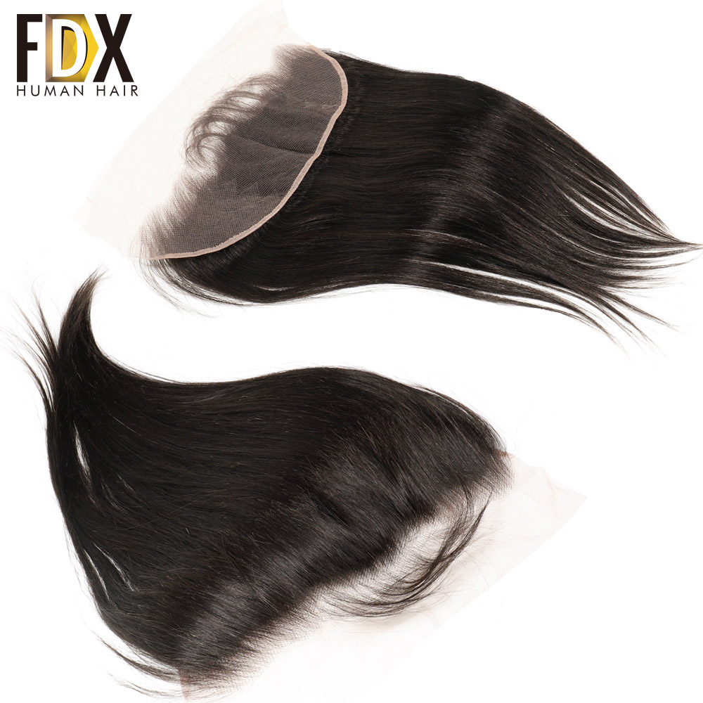 FDX Indian Lace Frontal Closure 13x4 Swiss Lace With Baby Hair Natural Human Hair