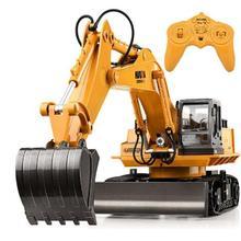 Huina 510 RC Excavator Car 2.4G 11CH Metal Remote Control En
