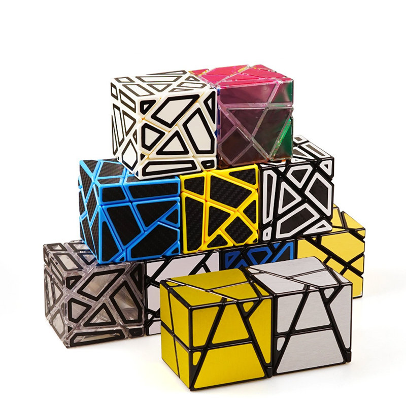 3x3 Ghost Cube Magic Cube Puzzle Hollow Sticker Speed Cube Special Toys For Children Fidget Cube z cube bundle black knight 2x2 3x3 4x4 5x5 speed cube set cube pack puzzle carbon fiber cube magic fidget toy gift box