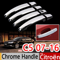 For Citroen C5 2007-2016 Chrome Handle Covers Trim Set of 4Pcs Wagon Car Accessories Stickers Car Styling 2009 2010 2011 2013