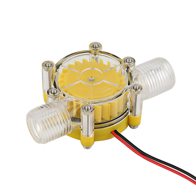 Aiyima Micro DC12V Hydroelectric Generator DC Water Flow Faucet Test Turbine Generator Translucent DIY