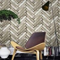 Retro 3D Stereo Antique Brick Wall Paper Restaurant Clothing Shop Barber Shop Bar PVC Waterproof Wallpaper Living Room 3 D Decor