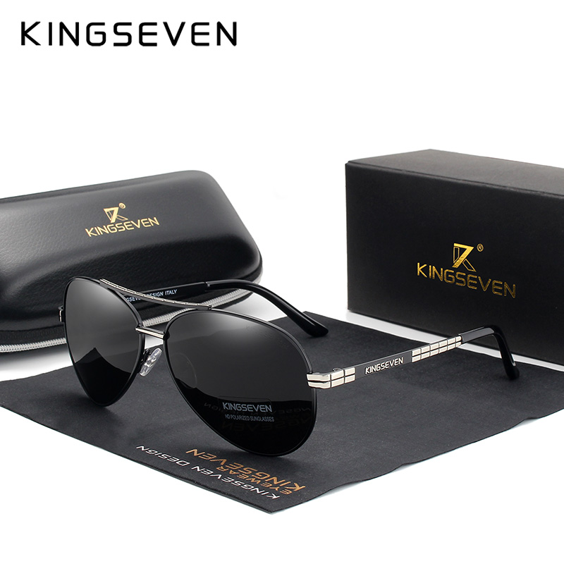 KINGSEVEN Men's NEW Fashion Sunglasses Polarized Mirror Lens Eyewear Accessories Driving Sun Glasses Shades UV400