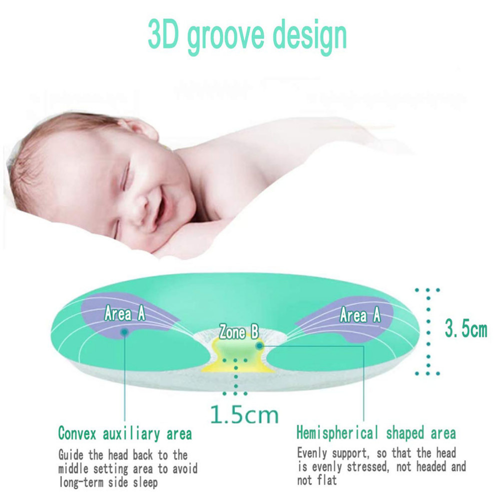 Baby Shaping Printing Pillow Sleeping Support Stereotypes Positioning Foam Soft Cushion Pad Pillow for 0 12months Infant Newborn in Pillow from Mother Kids