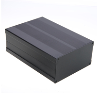 Black Electronic Project Case Aluminum Circuit Board Enclosure Box 150x105x55mm With Screws