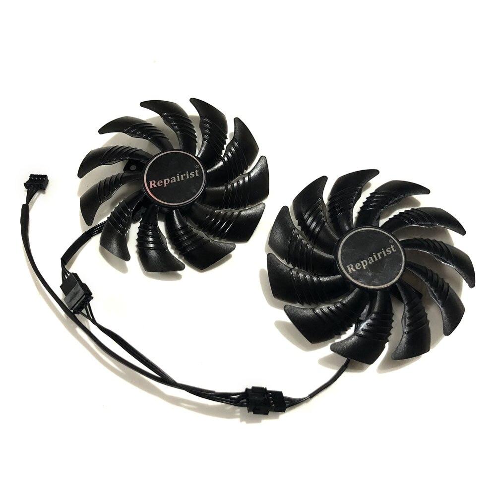 GeForce GTX 1050/1060 GPU refrigerador T129215SU 90mm gráficos ventilador para GIGABYTE GTX1050 GTX1060 D5 Windforce G1 tarjetas como reemplazo