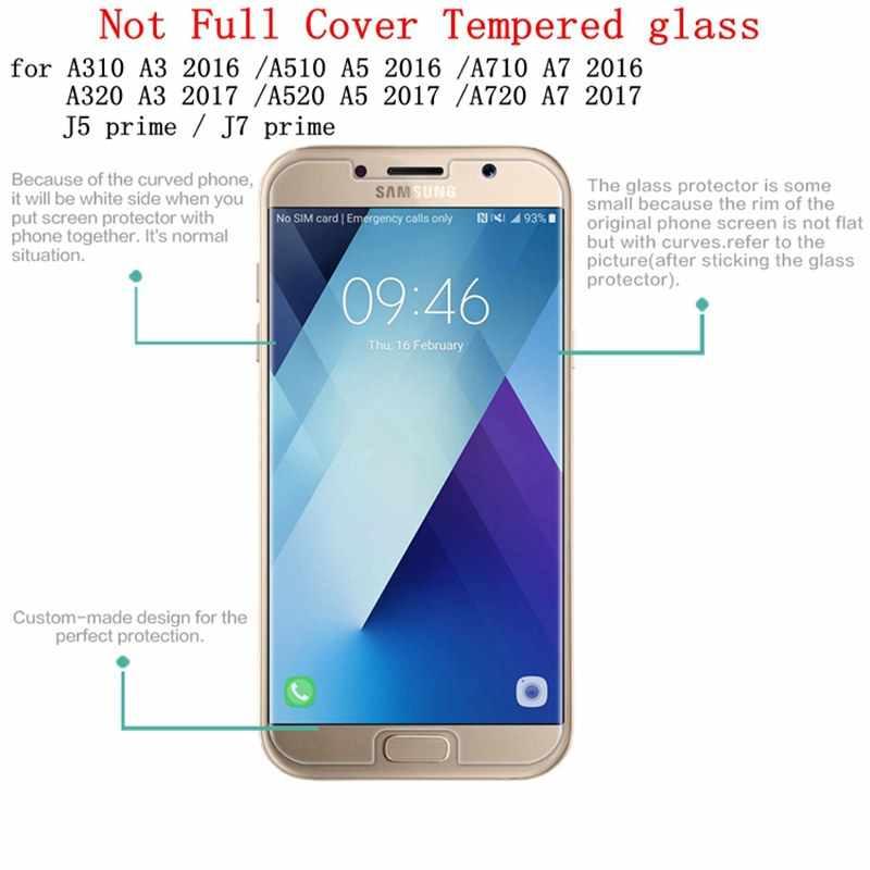 لسامسونج غالاكسي J4 J6 J82018 زجاج واقي لسامسونج J1 J3 J5 J7 2016 9H 2.5D واقي للشاشة لسامسونج A3 A5 A7 2017