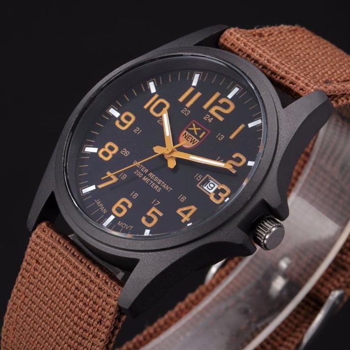 Men Army Watch Nylon Masculino Relogio NEW Military Male Quartz Watches Fabric Canvas Strap Casual Cool Men's Sport Wristwatch