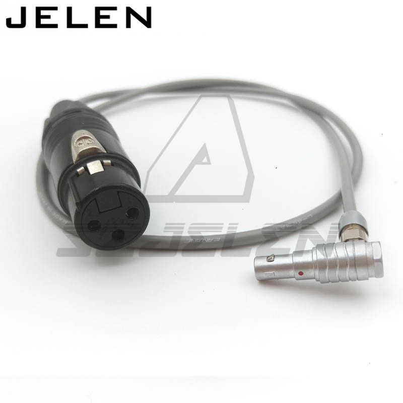 LEMO FHG.00B 5 pin plug to XLR Connector 3 pin Female FOR ARRI ALEXA mini camera audio cable, 60CM Arri Alexa Mini Audio Cable arri alexa mini amirai power link lemo fhj 2b 8 pins female to 4 pin neutrik xlr 4 pin female cable 1m