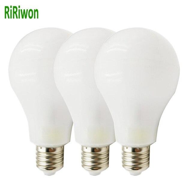 Ririwon 3 шт. светодиодные лампы свет лампы e27 220 В smart 360 реального 13 Вт 15 Вт 18 Вт Мощность Высокая Яркость Лампада LED Bombillas светодиодные