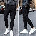 Calças compridas regulares slim fit preto hip hop dos ganhos moletom básico algodão de boa qualidade bts kpop streetwear calças de comprimento total