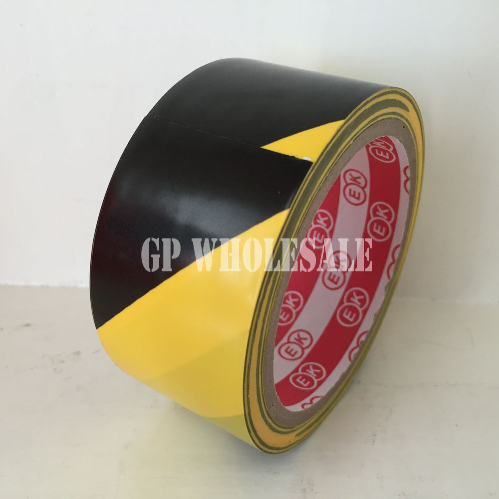 1x 4.5cm * 18 meters Floor Warning Adhesive Tape /Work Area Caution Tape / Ground Attention Tape Abrasion-Proof Yellow/Black