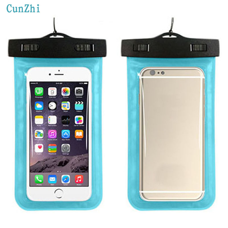 100% Sealed Waterproof Bags Soft PVC Pouch For <font><b>Micromax</b></font> Bharat 2 <font><b>Q402</b></font> Case Can Touch Phone Pouch image