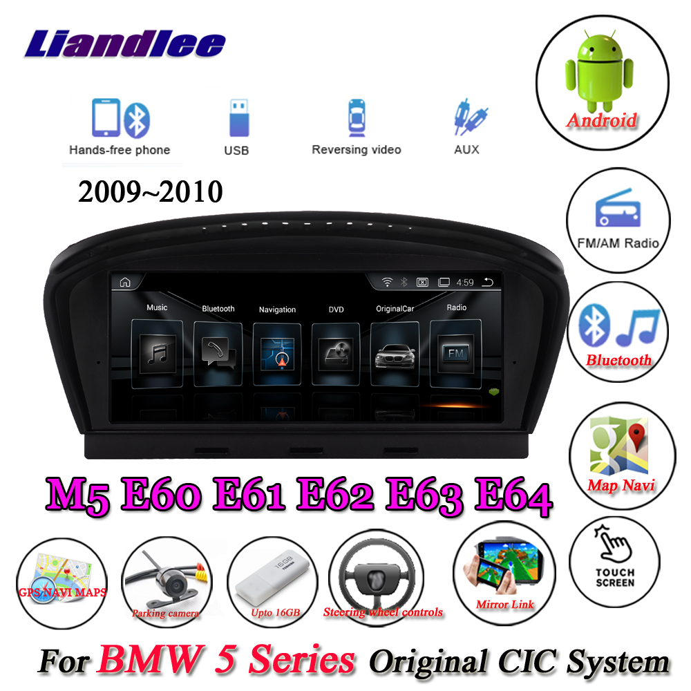 Liandlee For BMW 5 Series E60 E61 E62 E63 2009~2010 Android Original CIC System Radio Idrive Wifi GPS Navi Navigation Multimedia-in Car Multimedia Player from Automobiles & Motorcycles    1