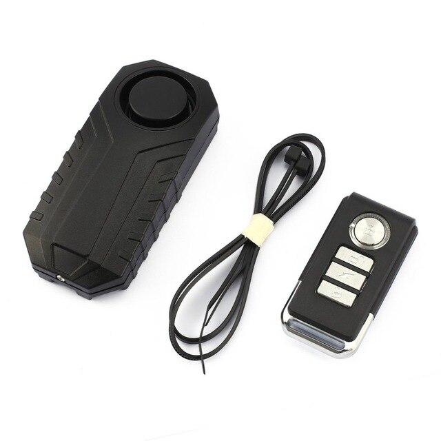 113dB Loud Wireless Bicycle Anti-theft Alarm Waterproof Door/ Window Vibration Alarm Intelligent Remote Control Alarm Sensor Sensor & Detector