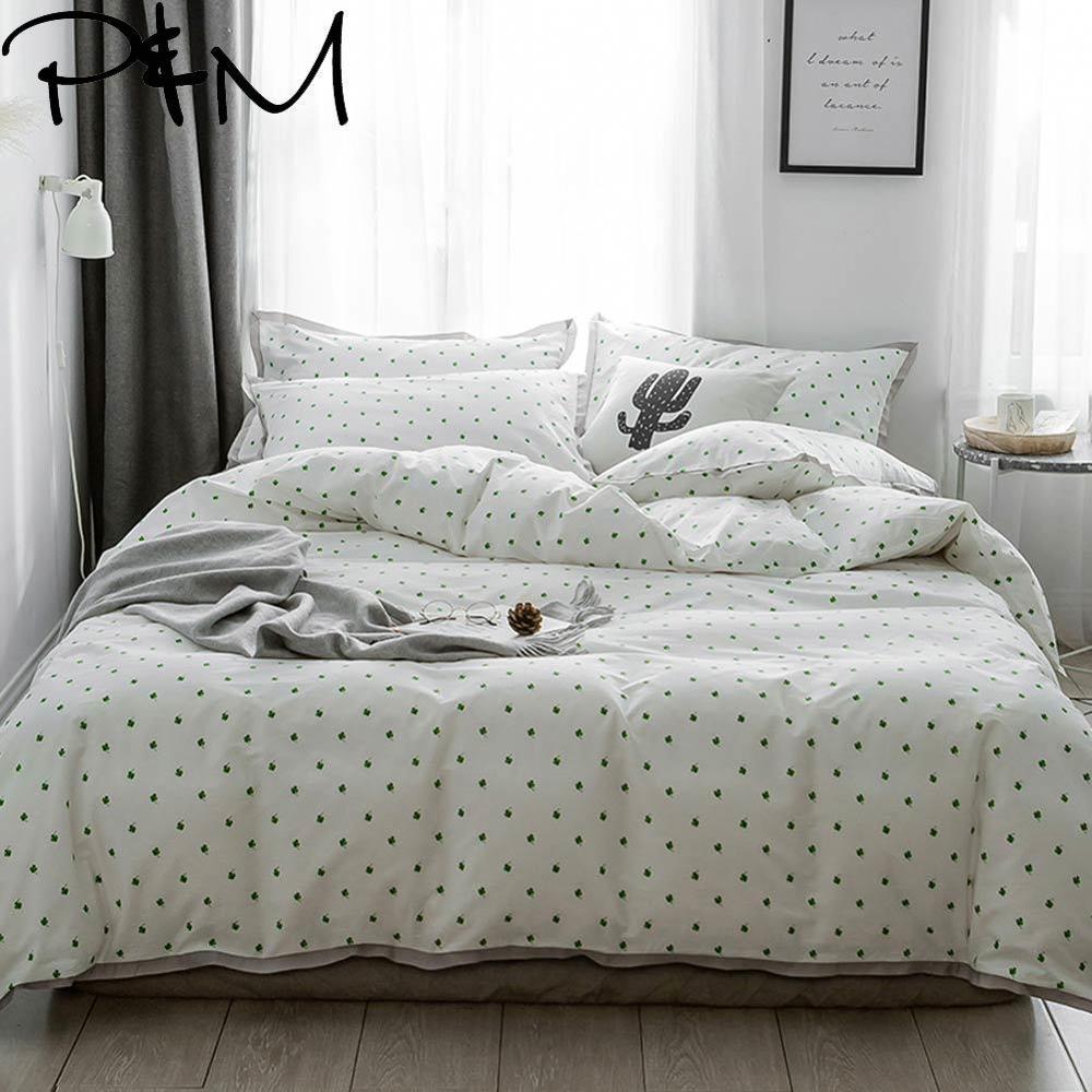 Pillowcases Bedding-Set Duvet-Cover Flat-Sheet Cotton Queen Mima Luxurious Print