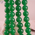 "Free Shipping Fashion Jewelry Round 10MM Green Jade Beads Strand15.5"" (40 beads) B104"