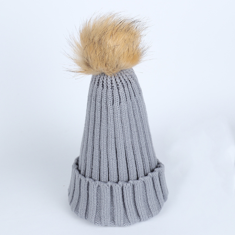 2017 Fashion Cap Autumn And Winter Soild Wool Hat hats for Women Keep Warm Knitting Hat Hair Bulb Volume Caps gorro Multi color lexington studios 24018g its a girl mini album