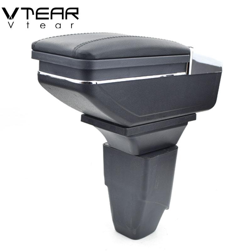 Vtear Pour PEUGEOT 206 207 boîte accoudoir central boîte de contenu de Magasin de voiture-style Storage Center Console produits accessoires intérieurs