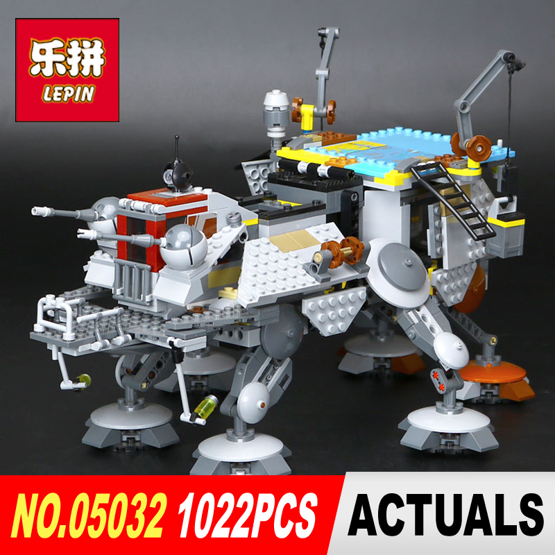 Lepin 05032 Star 1022Pcs Wars the Captain Rex's AT-TE model Building Blocks set Classic Compatible toy model legoed 75157 Gifts new lepin 16009 1151pcs queen anne s revenge pirates of the caribbean building blocks set compatible legoed with 4195 children