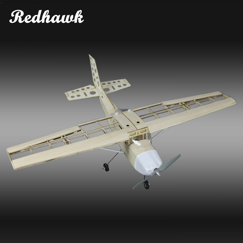 RC Plane Laser Cut Balsa Wood Airplane Kit New Cessna-172 Frame without Cover Wingspan 1000mm Model Building Kit Free shipping все цены