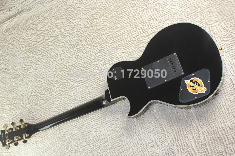 Free Shipping factory custom Top Quality New Maple Fretboard Custom Black lp Electric Guitar with Floyd Rose Tremolo 510