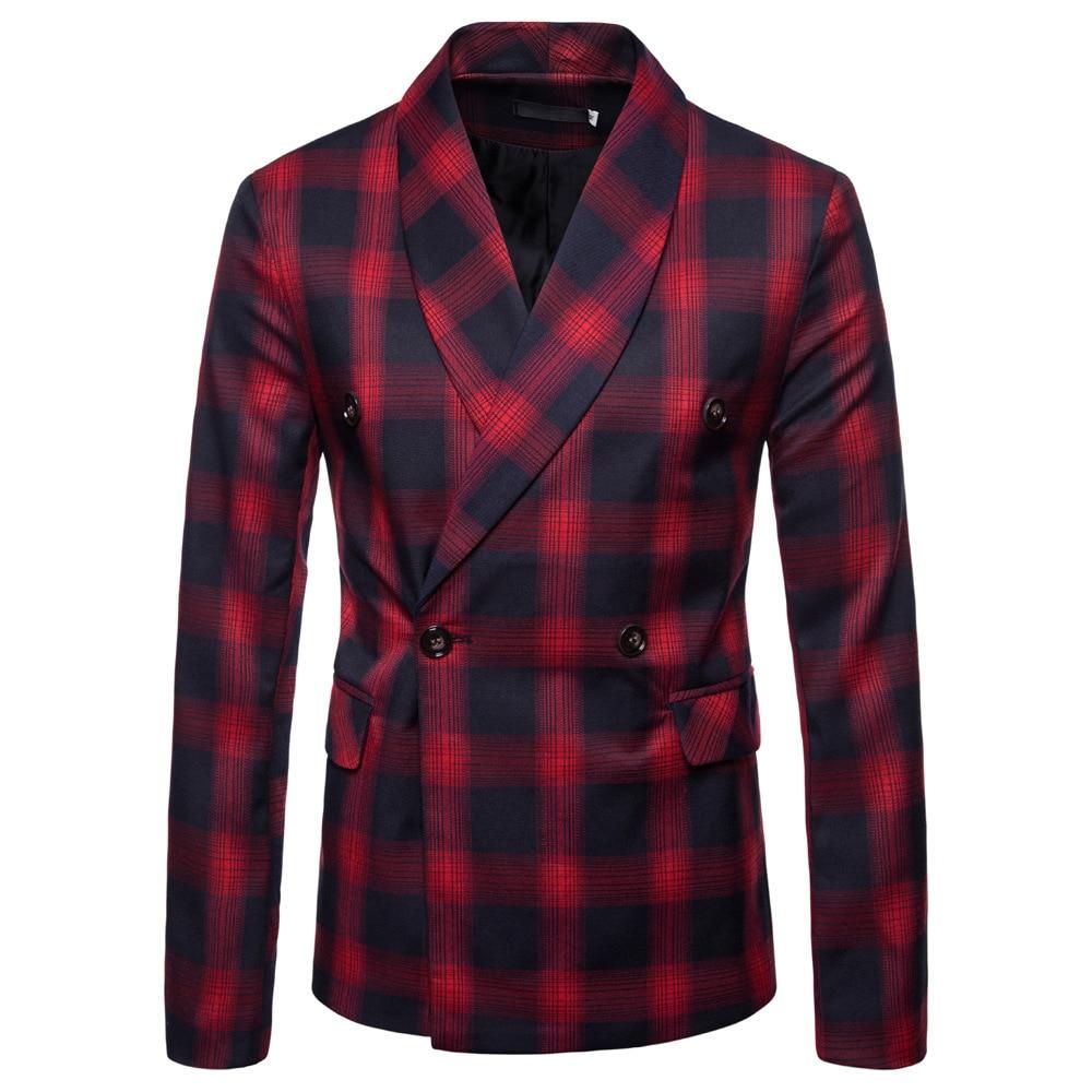 Men Blazer Masculino Slim Fit  Autumn 2020 Men's Suit Fashionable Gentleman Suit Jacket Terno Masculino