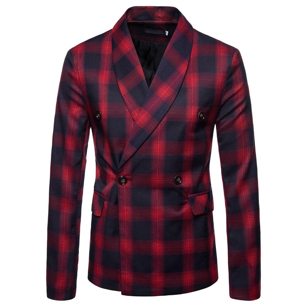 Men Blazer Masculino Slim Fit Autumn 2018 Men's Suit Fashionable Dark Pattern Gentleman Suit Jacket Terno Masculino