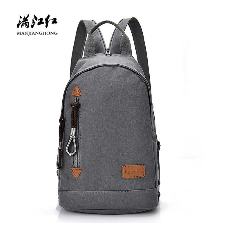 Fashion Waterproof Canvas Men Shoulder Backpack Bag Casual Travel Backpack Men Male Leisure School Bags For Teenager Boys 1389